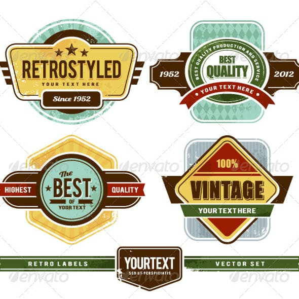 Vector set of grunge retro badges