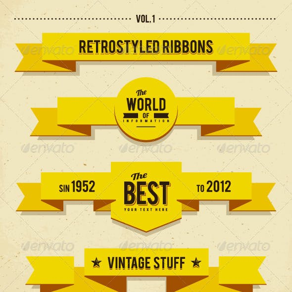 Retro syled ribbons