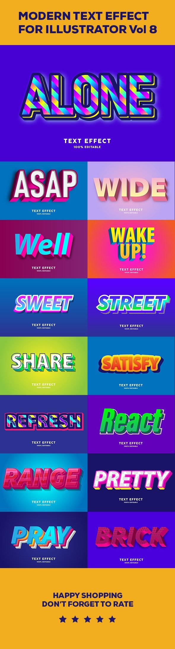 Modern Text effect vol 8 - Styles Illustrator