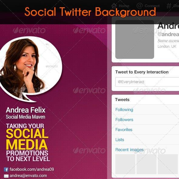 Social Twitter Background