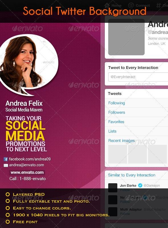 Social Twitter Background - Twitter Social Media