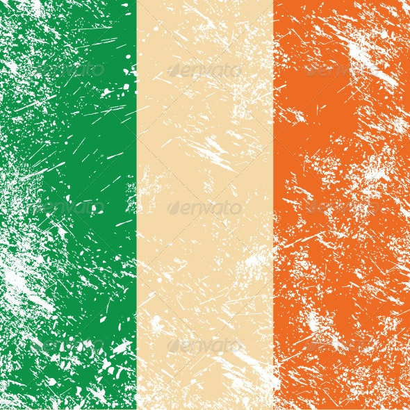 Ireland retro flag - Retro Technology
