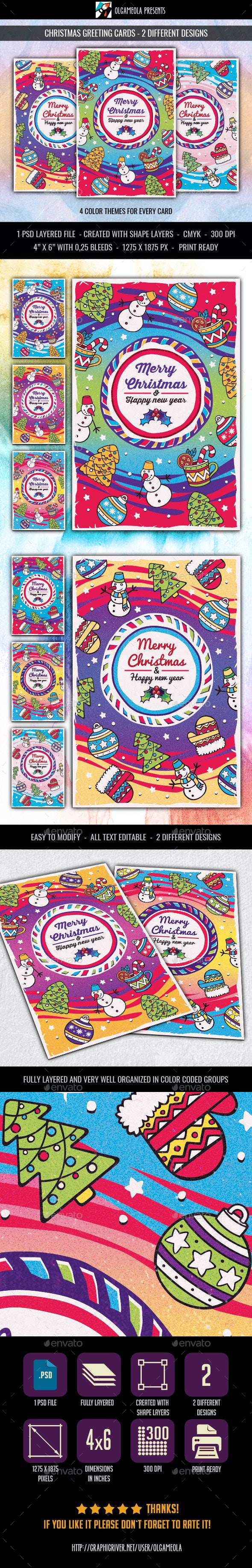Merry Christmas Greeting Cards - Greeting Cards Cards & Invites