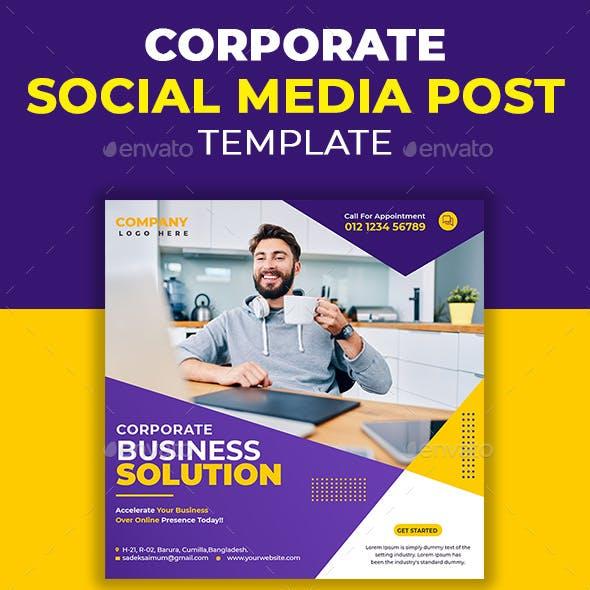 Corporate Social Media Post Template