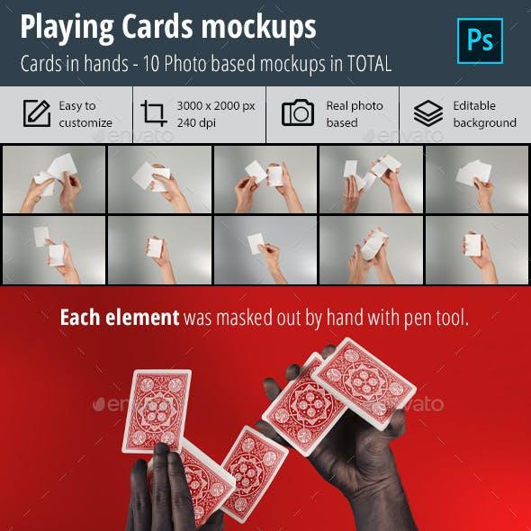 Playing Cards Mockup vol. 3
