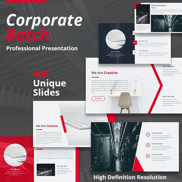 Corporate Batch Powerpoint Presentation Template