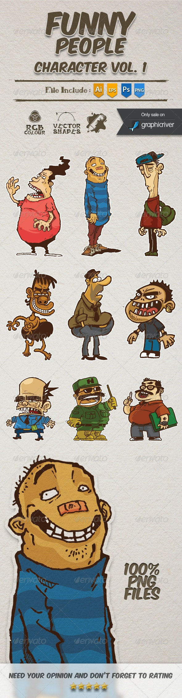 Funny People Character  - People Characters