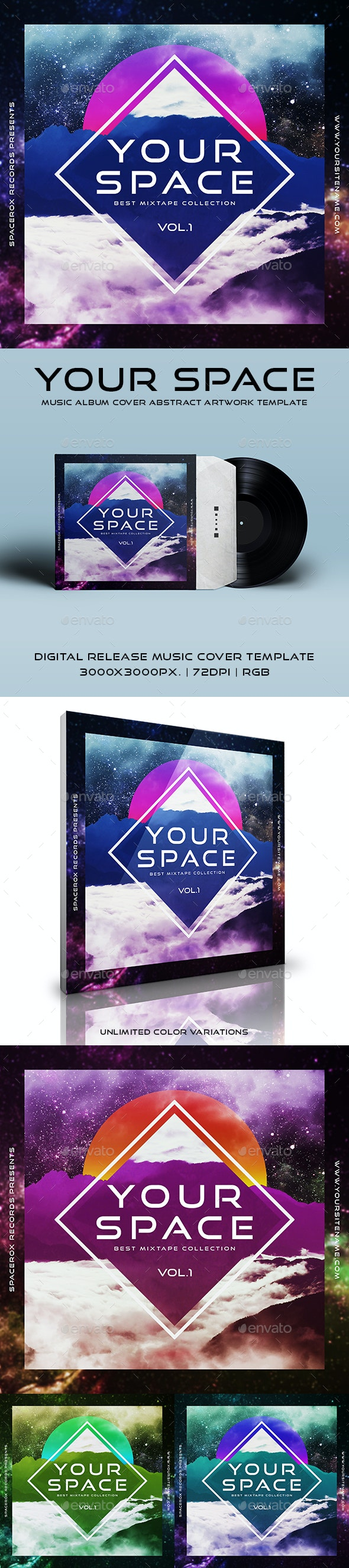 Your Space - Music Album Cover Abstract Artwork Template - Miscellaneous Social Media