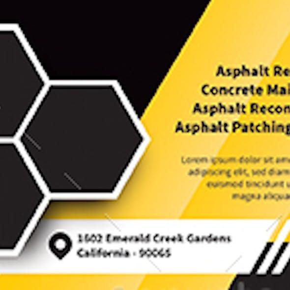 Asphalt and Paving Service Business Card