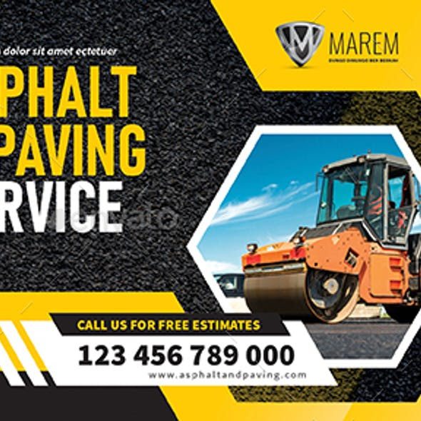 Asphalt and Paving Service Postcard