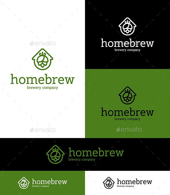Home Brew Beer Hop Logo - Buildings Logo Templates