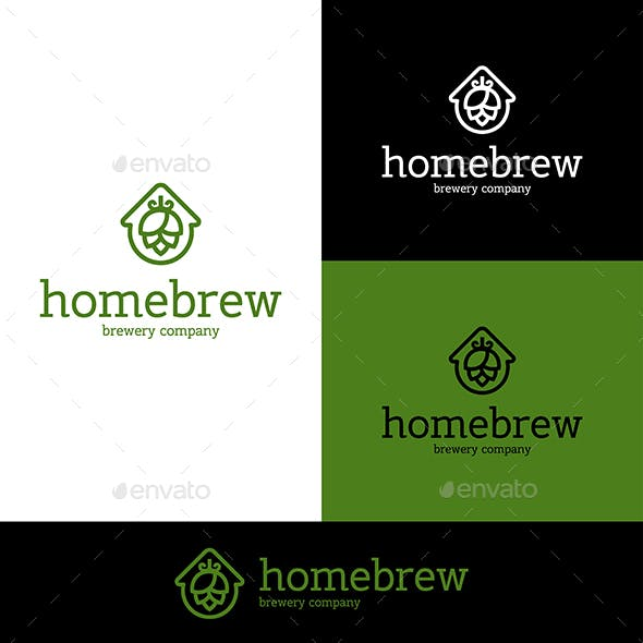 Home Brew Beer Hop Logo
