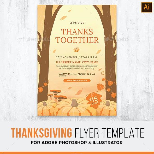 Rustic Fall Thanksgiving Flyer
