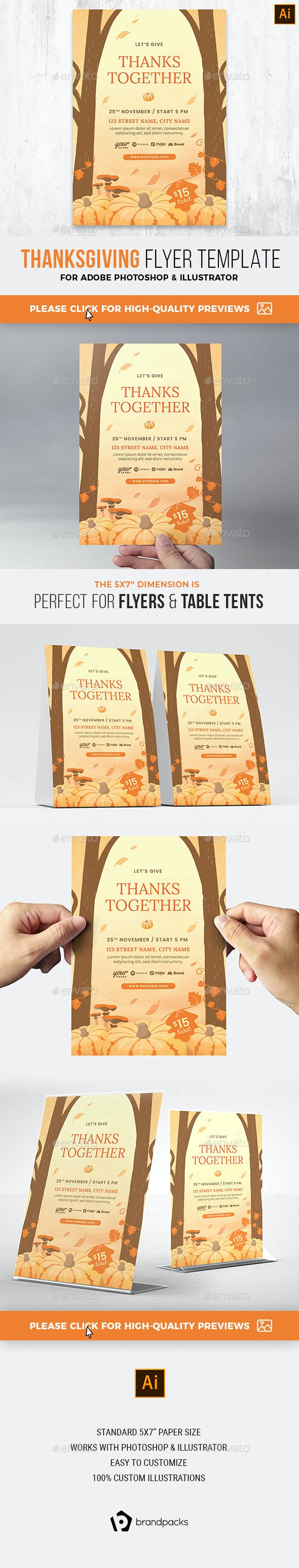 Rustic Fall Thanksgiving Flyer - Holidays Events