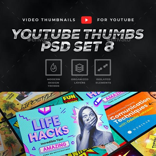 Youtube Thumbnail Template Set 8