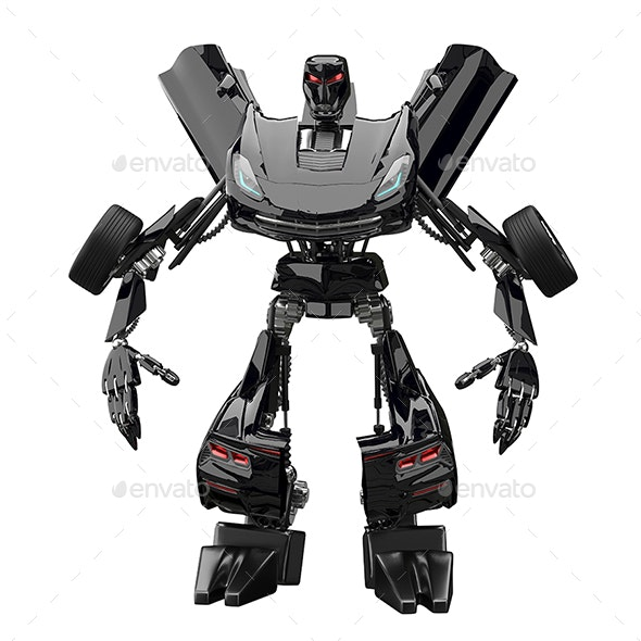 3D Illustration Abstract Robot Stand - Technology 3D Renders