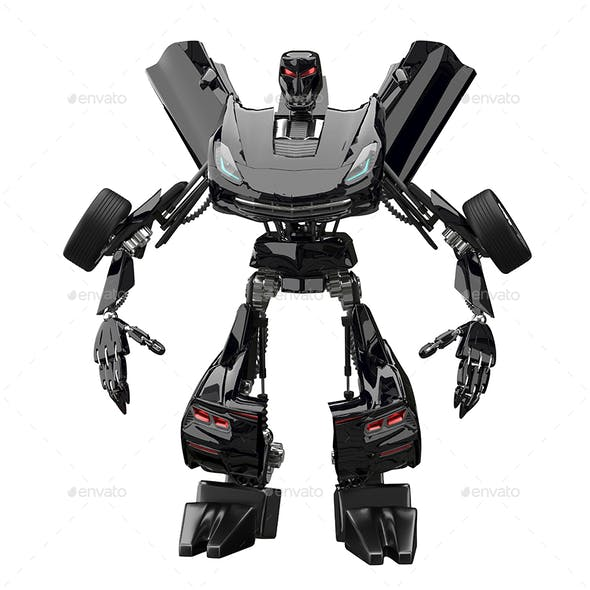 3D Illustration Abstract Robot Stand