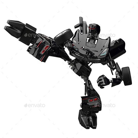 3D Illustration Robot Car Fighter - Technology 3D Renders