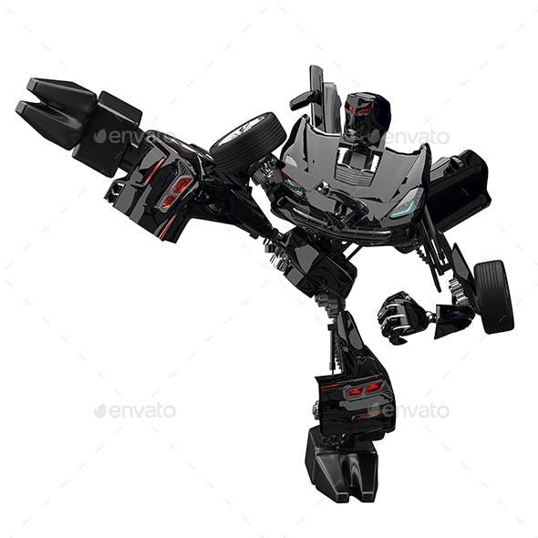 3D Illustration Robot Car Fighter
