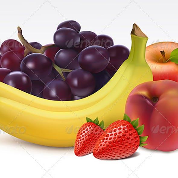 Ripe fresh fruits