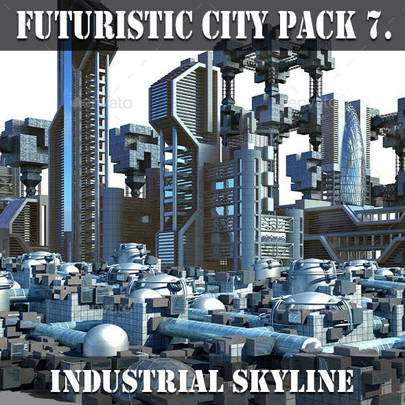 Futuristic City Pack 7. Industrial Skyline
