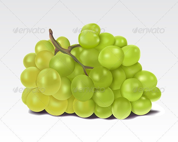 Bunch of green grapes  - Food Objects