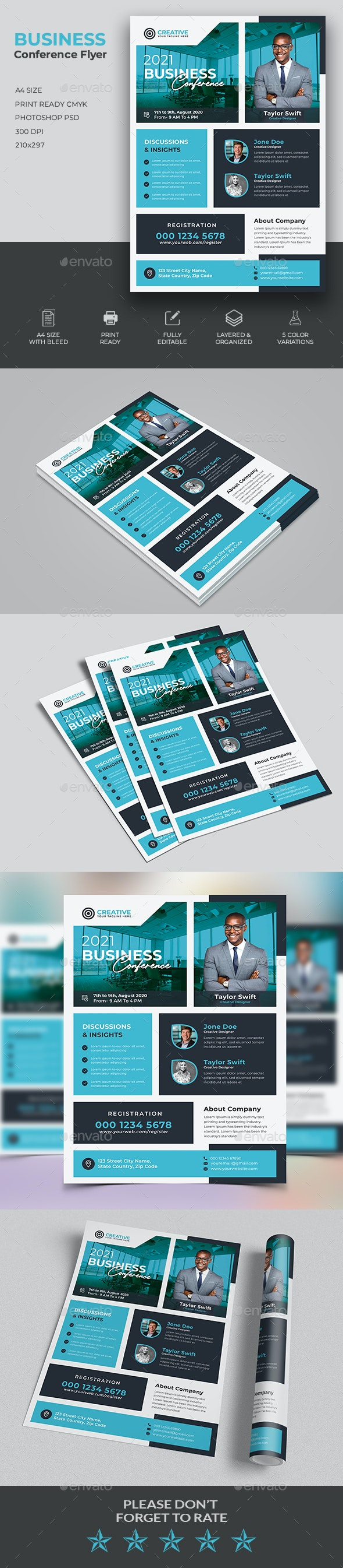 Business Conference Flyer - Corporate Brochures