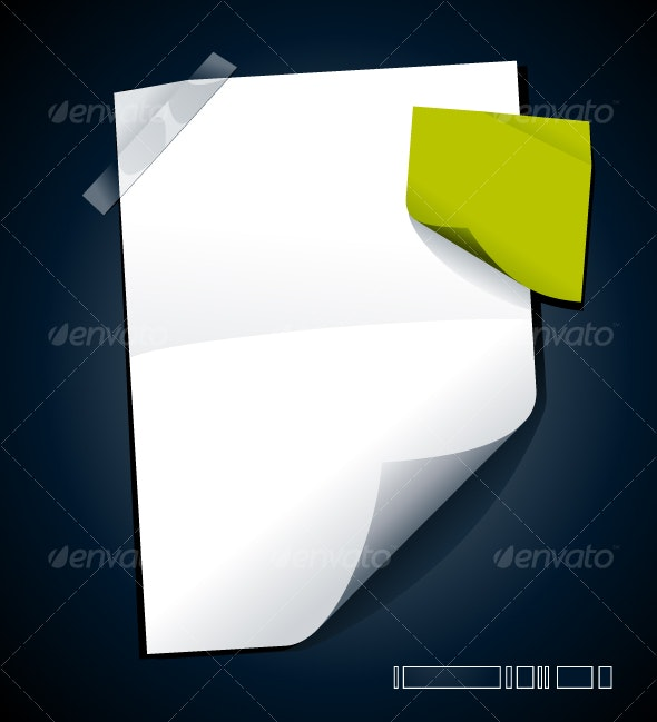 Just blank paper - Objects Vectors