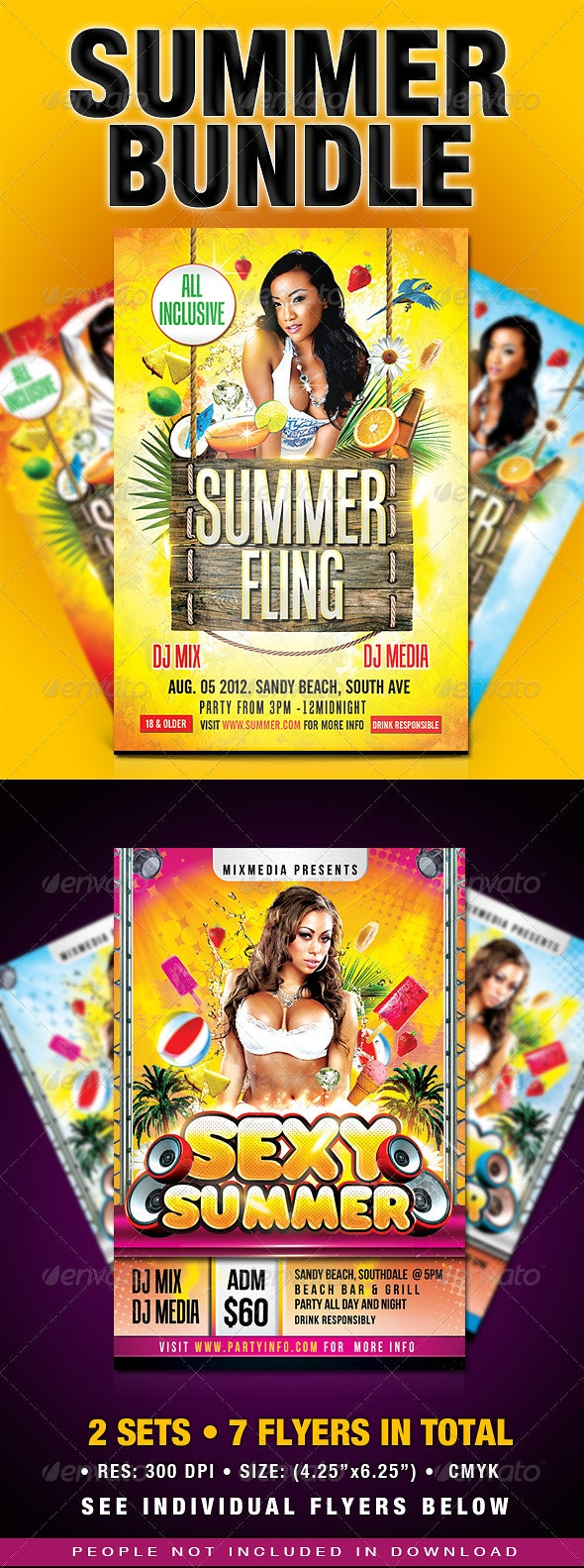 Summer Party Flyer Bundle - Clubs & Parties Events