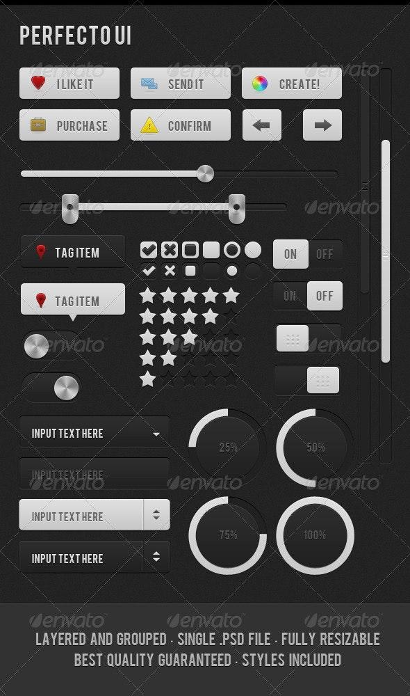 Perfecto UI 1.0v - Buttons Web Elements