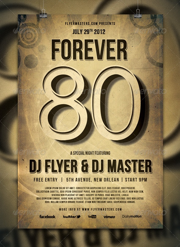Forever '80 Flyer / Poster - Events Flyers