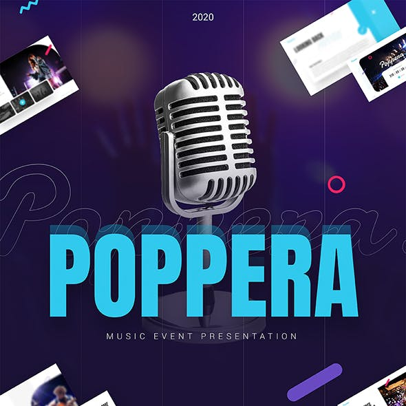 Poppera Music Powerpoint Presentation Template