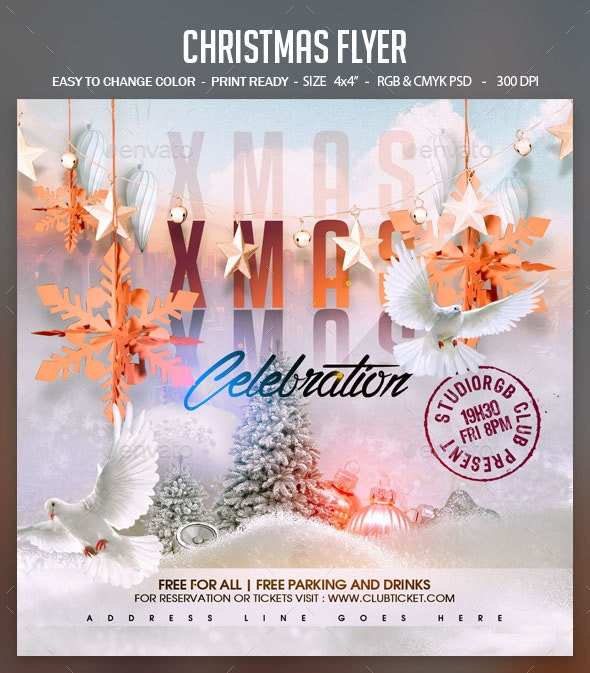 Christmas Flyer - Clubs & Parties Events