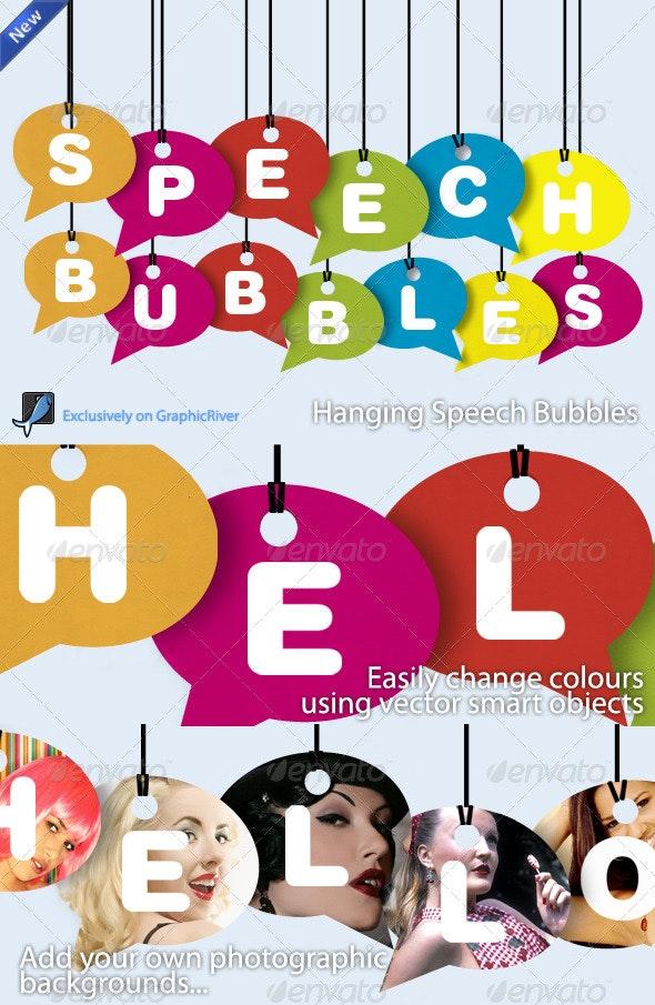 Colourful Speech Bubbles - Miscellaneous Graphics