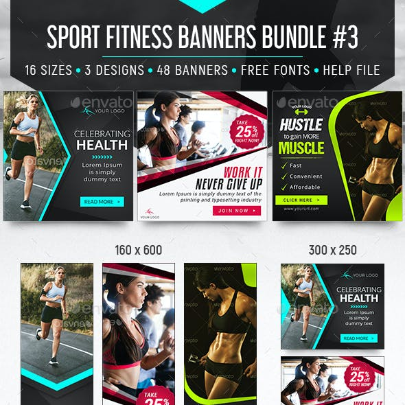 Sport Fitness Banners Bundle
