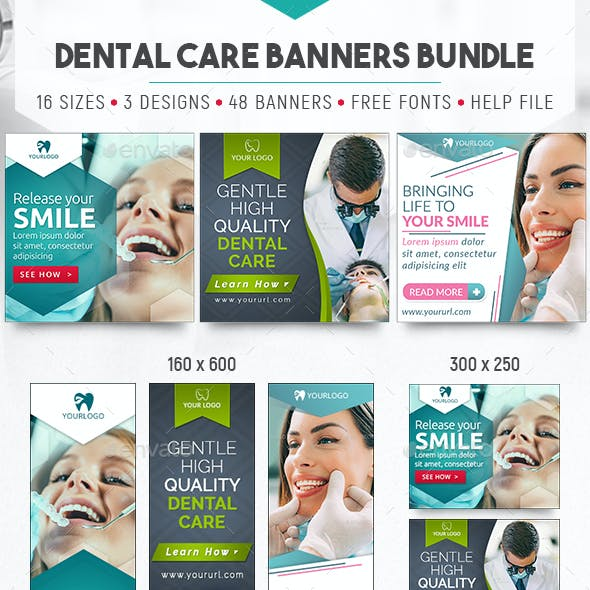 Dental Care Banners Bundle