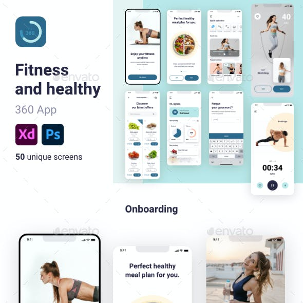 Fitness and healthy 360 App