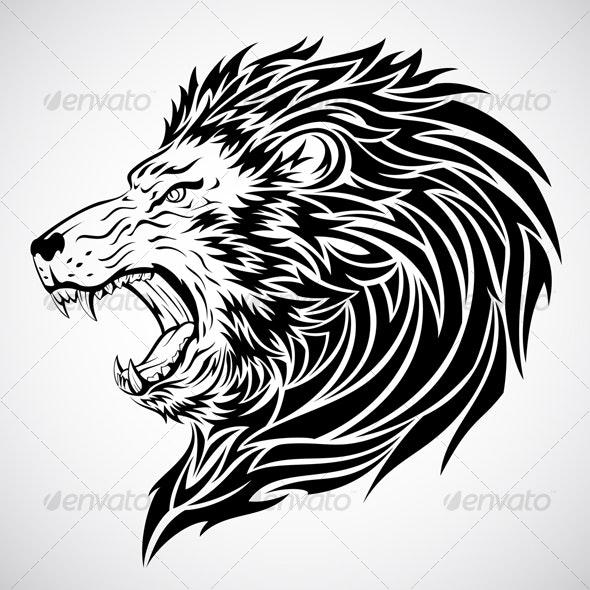 Fierce Lion Tattoo