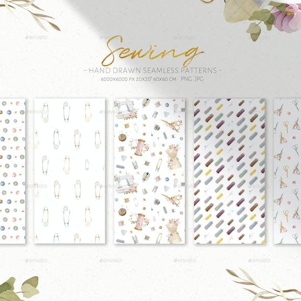 Sewing Seamless Patterns - Digital Paper