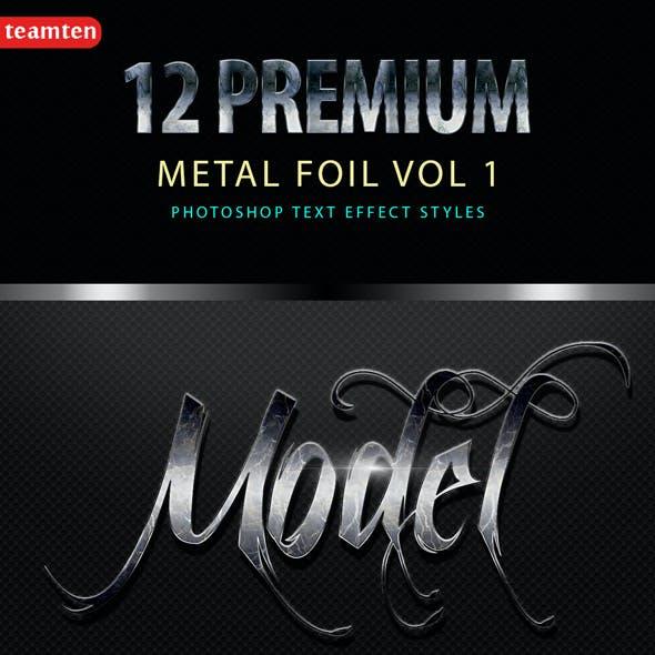 12 Premium Metal Foil vol 1