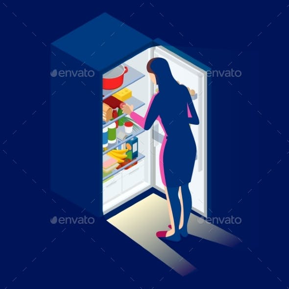 Problem of Excess Weight and Health. Woman By the
