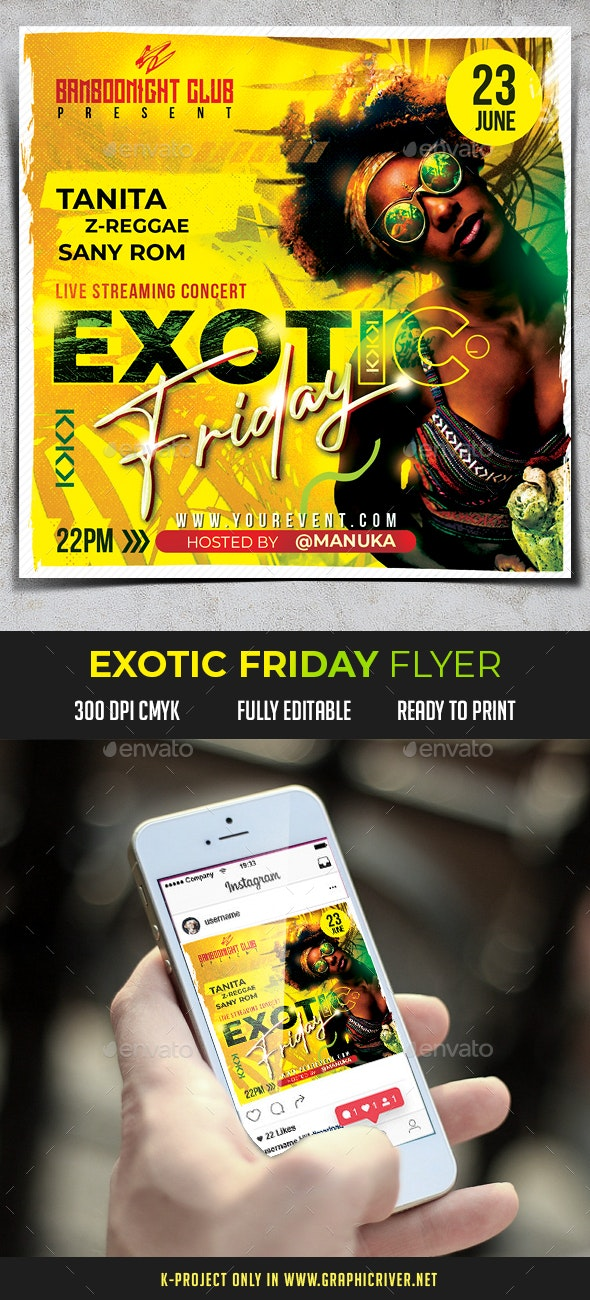 Exotic Friday Flyer - Clubs & Parties Events