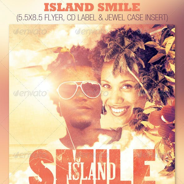 Island Smile Event Flyer and CD Template