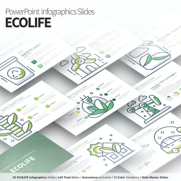 ECOLIFE - PowerPoint Infographics Slides