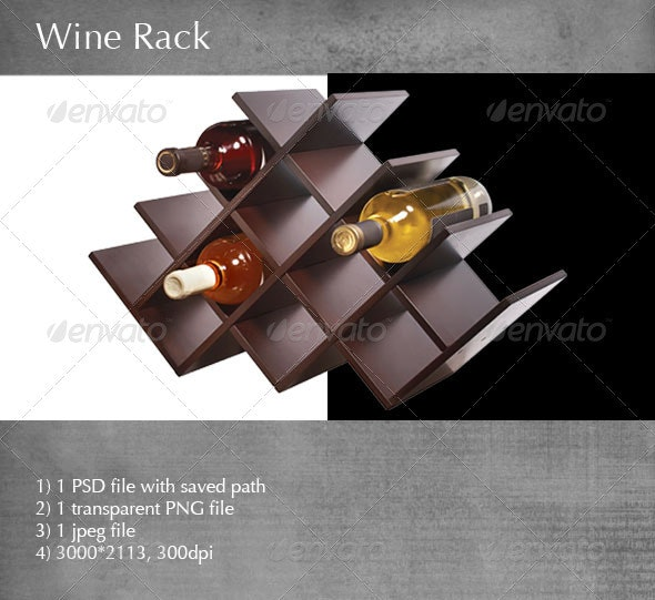 Wine Rack - Food & Drink Isolated Objects