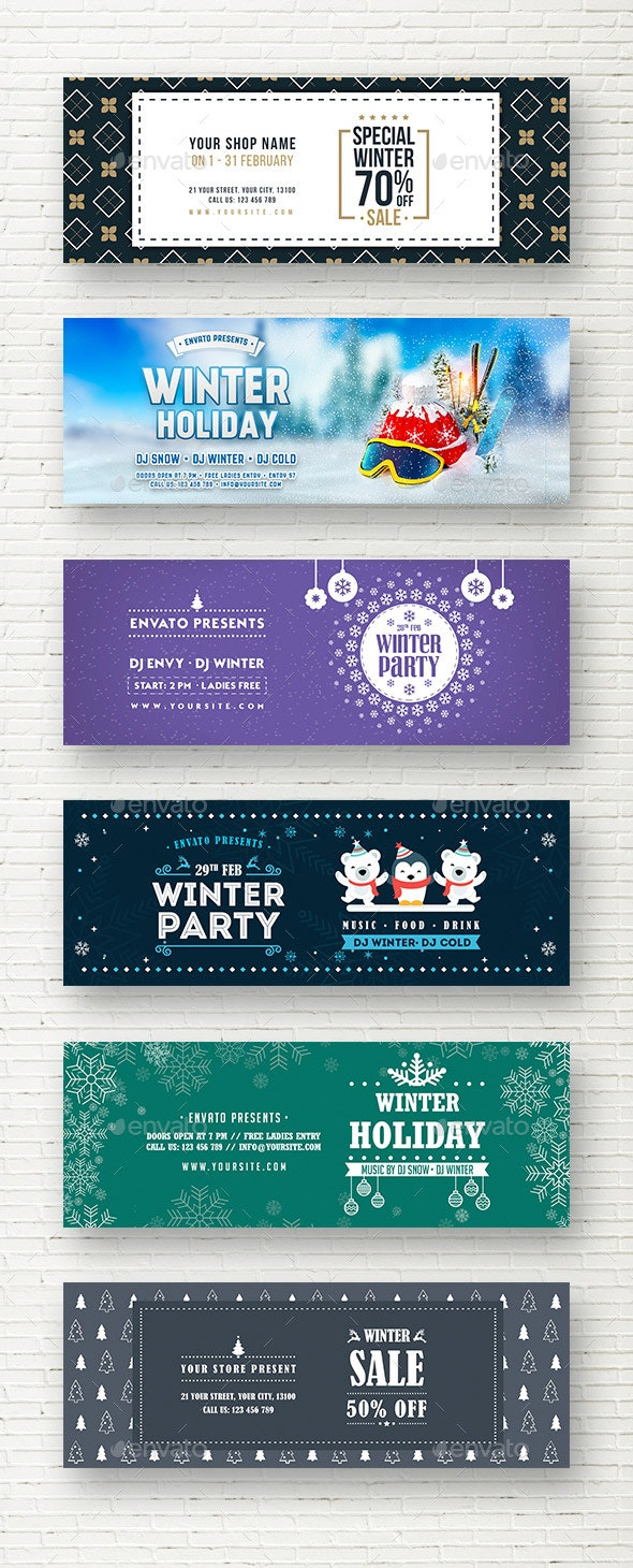 Winter Web Sliders - Sliders & Features Web Elements