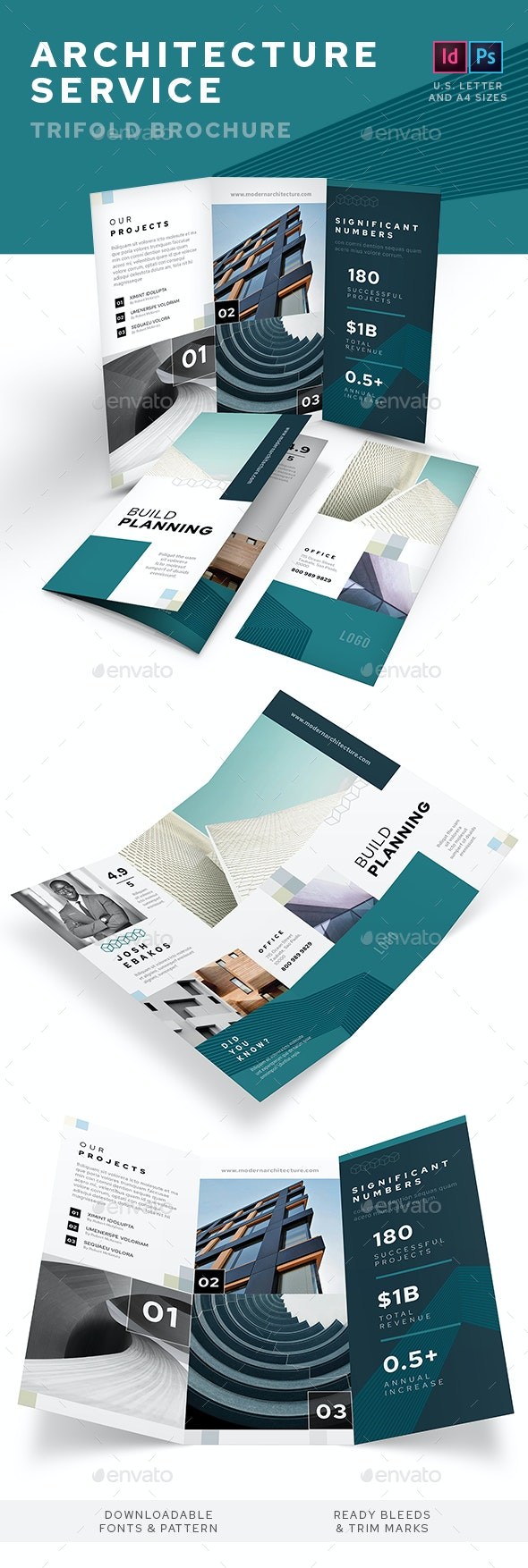 Architecture Service Trifold Brochure - Informational Brochures