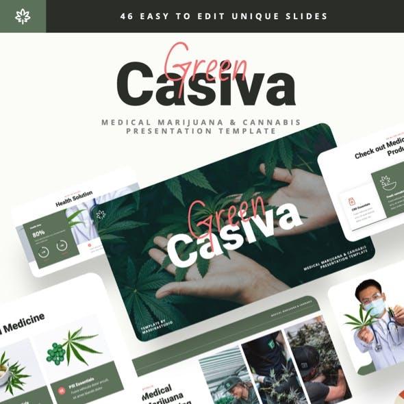 Green Casiva - Medical Marijuana & Cannabis Powerpoint Template