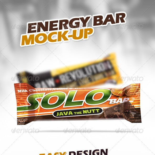 Energy Chocolate Bar Mock-Up