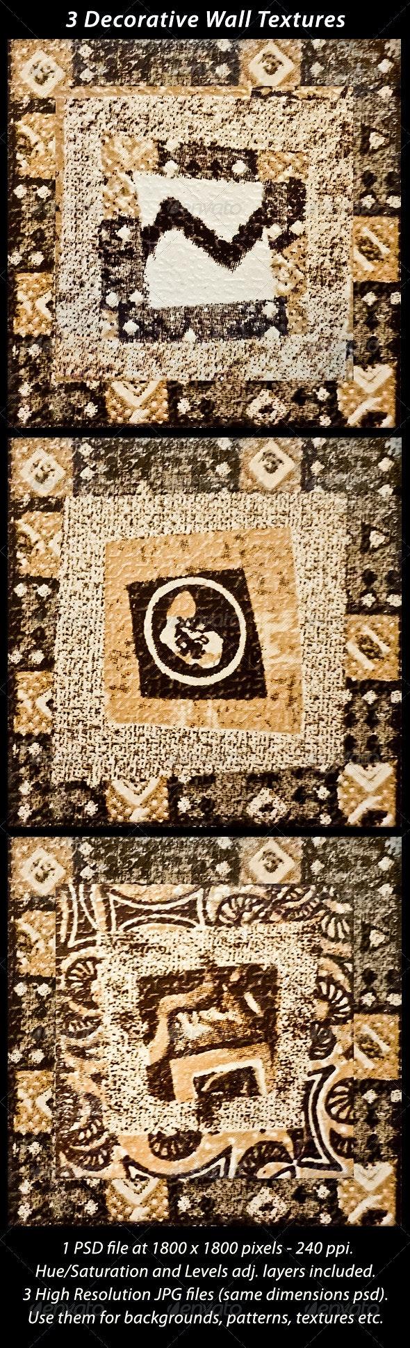 3 Decorative Wall Mosaic Textures - Fabric Textures